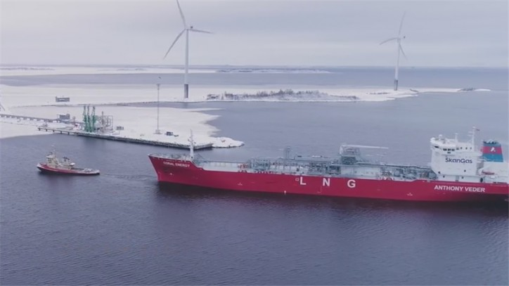 VIDEO: The first LNG shipment to Tornio Manga LNG receiving terminal
