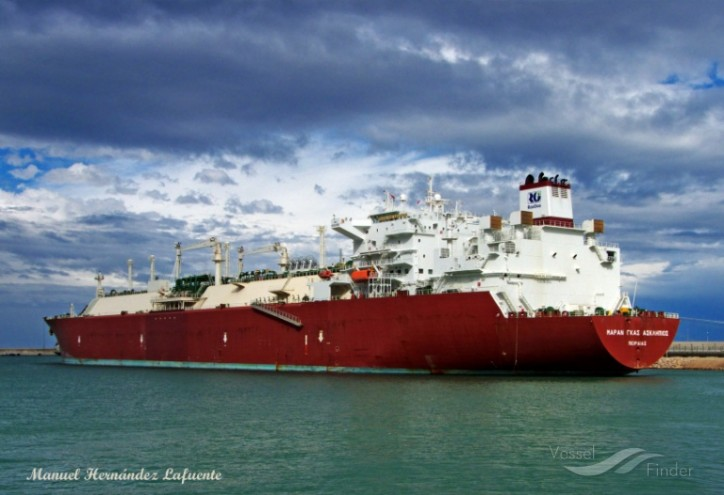 Qatari LNG cargo heading for Zeebrugge