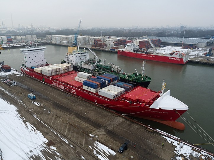 First LNG-bunkering of ms Containerships Nord