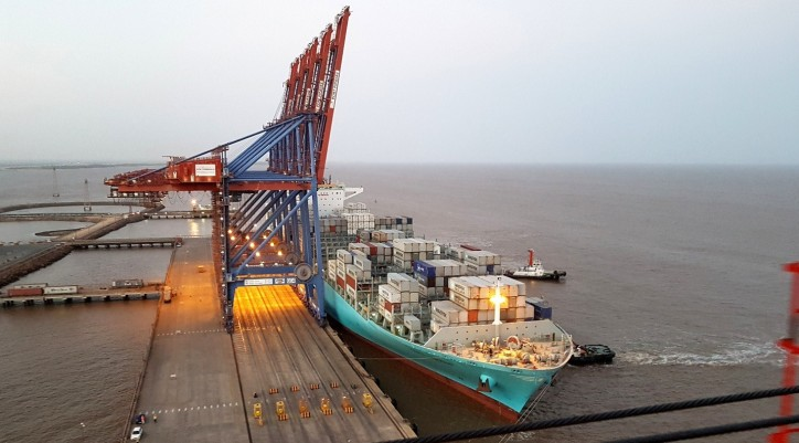 New record for the largest vessel ever to call APM Terminals Pipavav