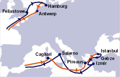 Hapag-Lloyd East – Mediterranean Express Service (EMX)
