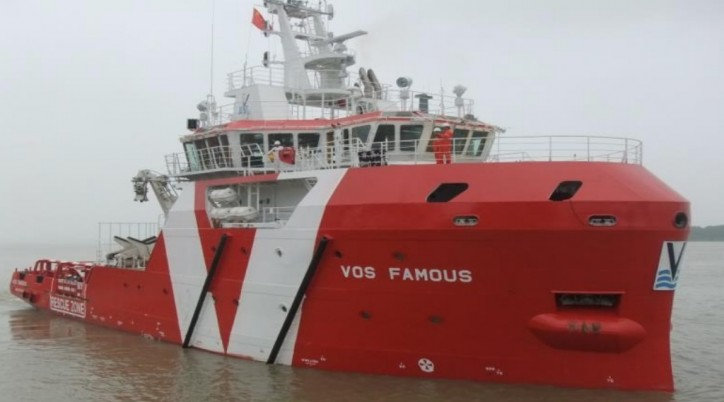 Vroon's ERRV VOS Famous enters five-year charter with Premier Oil