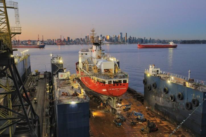 Seaspan Shipyards commences refit work on CCGS Sir Wilfrid Laurier