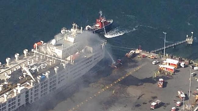 World's largest livestock carrier caught fire at Fremantle, one crew member in critical condition 1