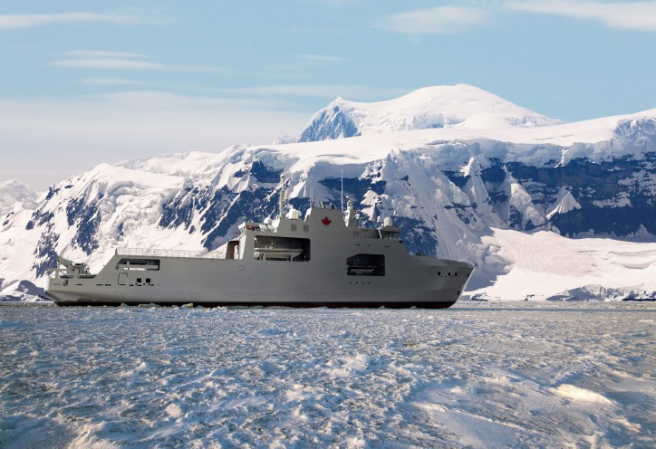 Artist's impression of the Harry Dewolf-Class Arctic/Offshore Patrol Ship