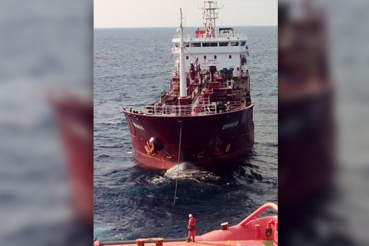 Chemical tanker Orakai in trouble off the coast of Cartagena