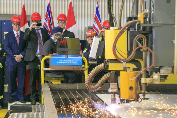 Seaspan Shipyards and Shipbuilding Partners Celebrate Start of Construction on Canada's Joint Support Ships
