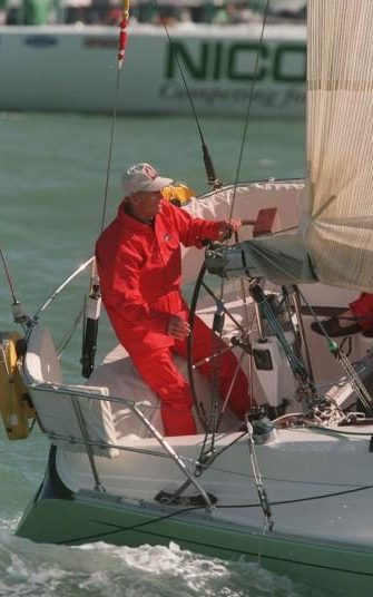 1996: Prince Phillip at Cowes Week Isle of Wight