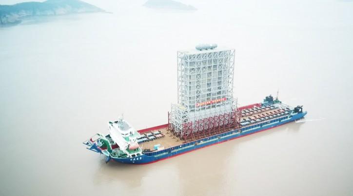 World's Largest Modularized Cracking Furnace Delivered from Wison Zhoushan Yard