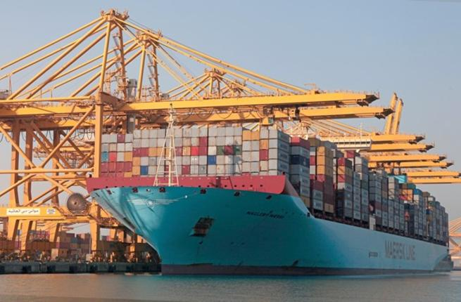 Jebel ali receives one of the world`s largest vessels - Magleby Maersk