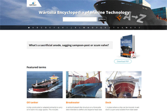 Wärtsilä launches new online platform for its Encyclopedia of Marine Technology