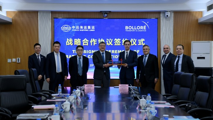 COSCO SHIPPING Lines and Bolloré Transport & Logistics sign MoU to develop new synergies
