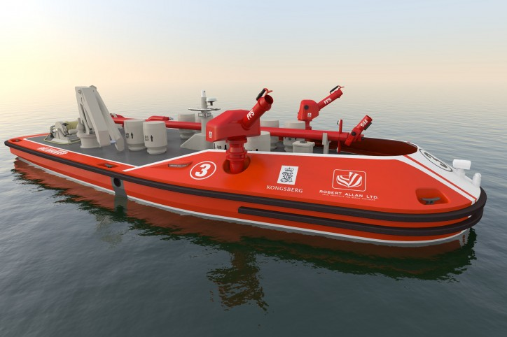 RALamander into the Fire: Remotely-operated Fireboats for Ports Announced by Robert Allan Ltd. and Kongsberg Maritime