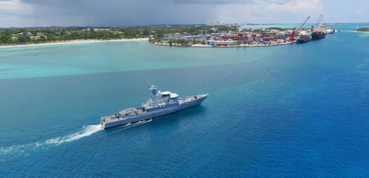 Spotted: Bahamas Corvette comes to Damen shipyard for lifetime extension