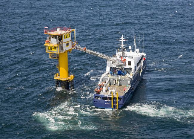 Small unmanned platform in North Sea brings expansion of gas production in Netherlands