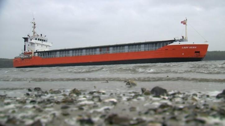 Lady Irina aground