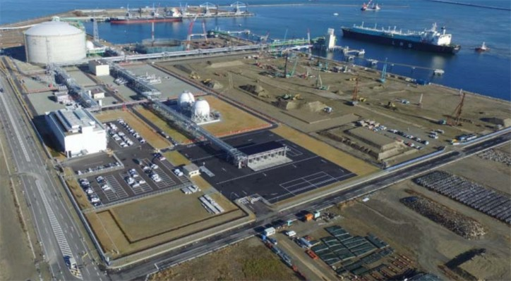First LNG Tanker arrived at the JAPEX's Soma LNG Terminal