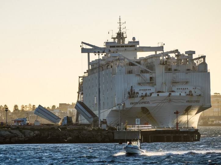 Livestock carrier catches fire off Victorian coast, Australia