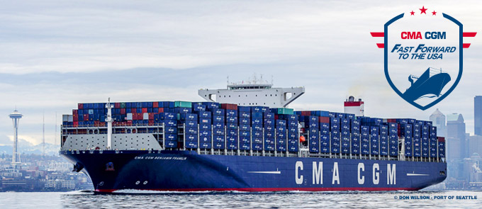CMA CGM deploys its flagship fleet between Asia and the U.S. West coast