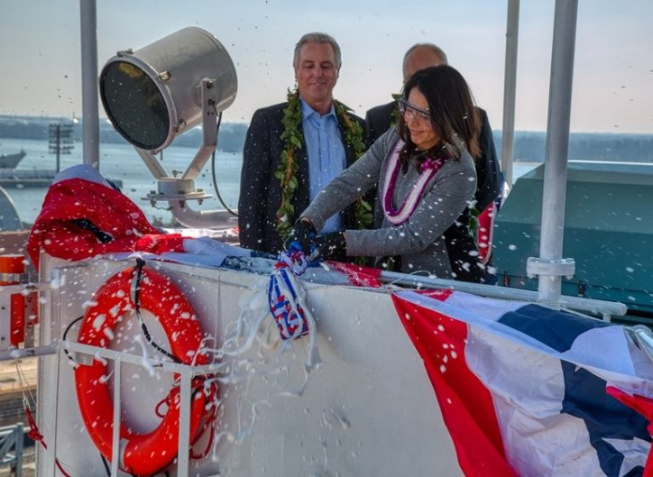 Matson Christens Second Aloha Class Vessel 'Kaimana Hila' At Philly Shipyard