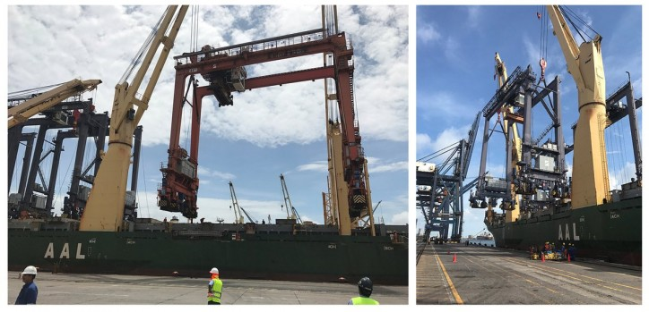 AAL completes shipment of six giant gantry cranes from West to East coast Mexico