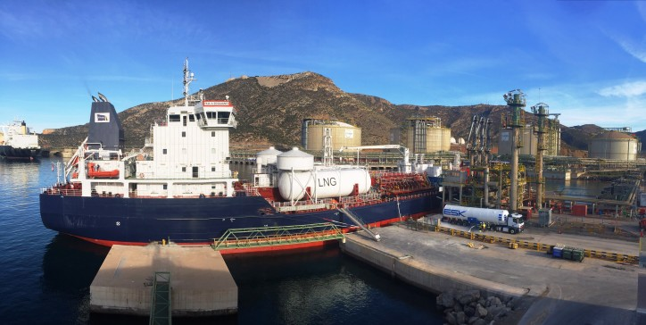 New milestone in the supply of LNG as fuel at the Port of Cartagena