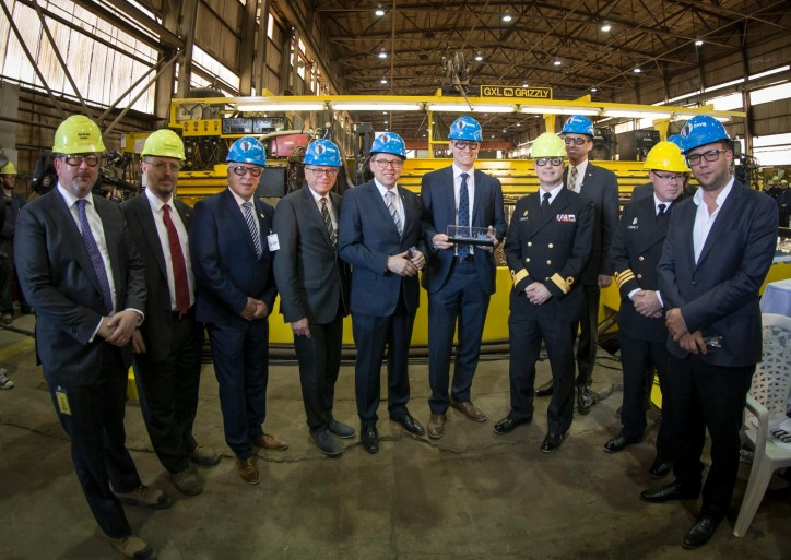 DAVIE Shipbuilding Marks The Steel Cutting For First Resolve-Class AOR With A Major Celebration