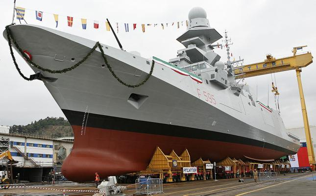 The sixth Multipurpose Frigate Luigi Rizzo launched
