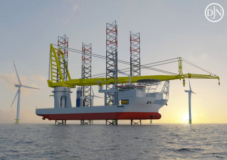 Jan De Nul Group orders third wind turbine installation vessel