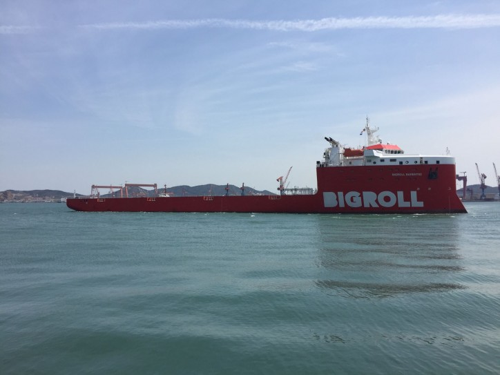 Cosco Dalian Shipyards delivers the third module carrier vessel to BigRoll - BigRoll Baffin