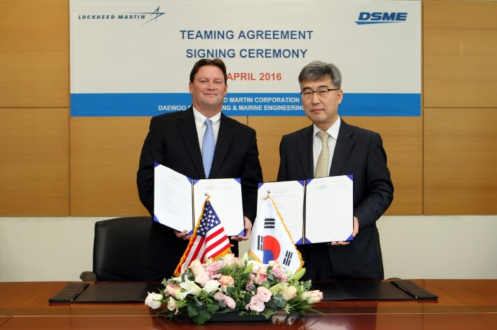 Lockheed Martin and Daewoo Shipbuilding & Marine Engineering have agreed to partner on the Multi-mission Combat Ship, which will be based on a DSME hull design and intended for the corvette market.