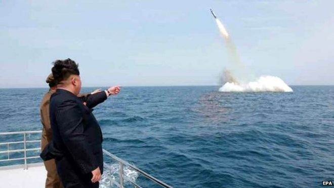 North Korea Fires Missile from Submarine