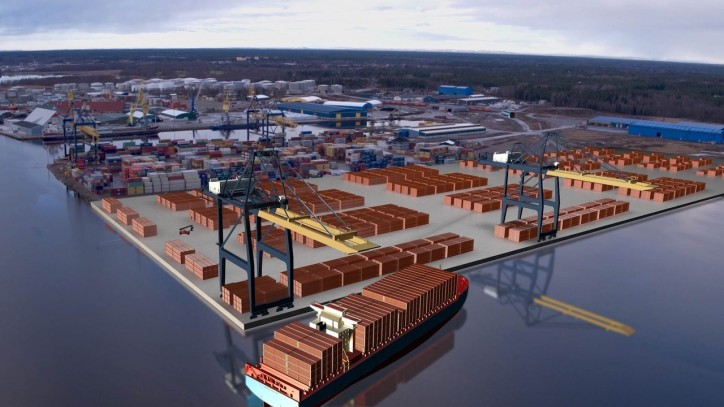 Port of Gävle - the largest container port on the Swedish east coast is doubling its capacity
