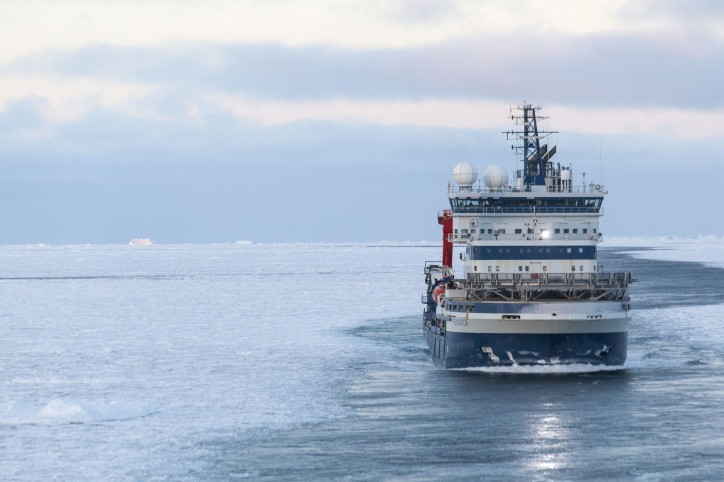 Multipurpose icebreaker Fennica assists traffic in the Kvarken