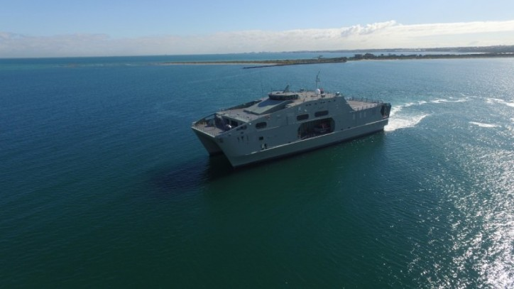 AUSTAL Delivers Second High Speed Support Vessel To Royal Navy Of Oman