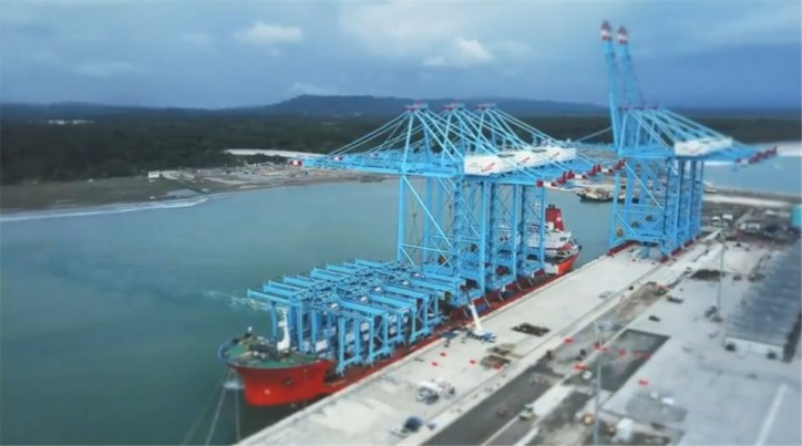 Second delivery of cranes arrives in Moin (Video)