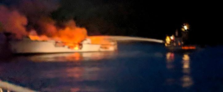 34 Presumed Dead after California boat fire, USCG suspends search