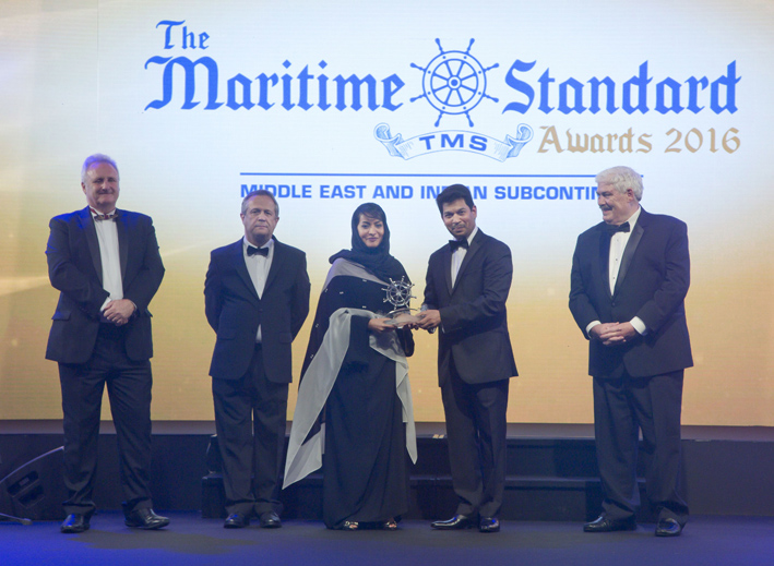 Abu Dhabi Ports receives three awards at the 2016 Maritime Standard Awards
