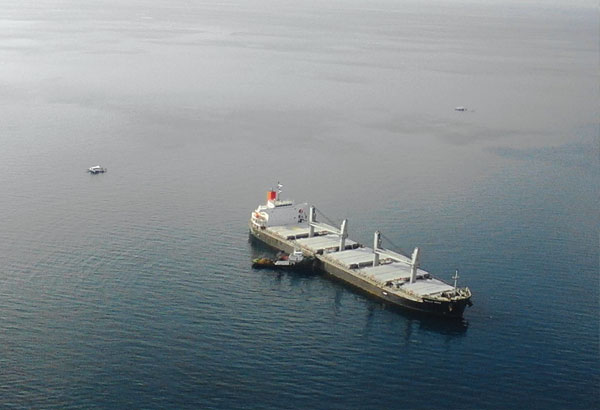 Cargo ship Belle Rose runs aground off Malapascua Island, Philippines