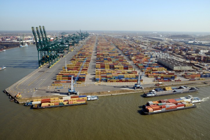 Record freight volume for port of Antwerp