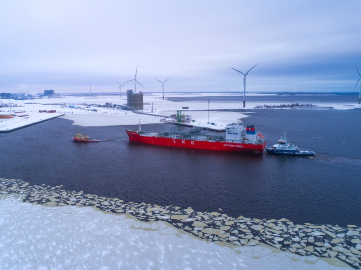 First shipload of liquefied natural gas to Northern Finland delivered to Manga LNG terminal