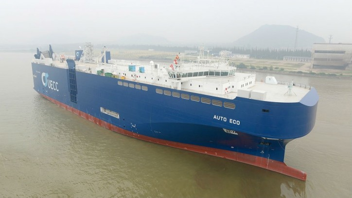 World's First LNG-fueled Pure Car and Truck Carrier (PCTC) Delivered