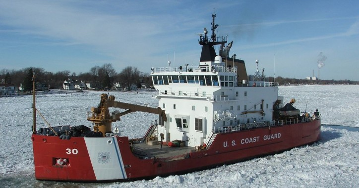 US Coast Guard begins ice breaking operations in the Western Great Lakes