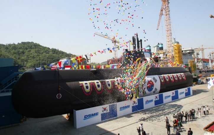 South Korea receives sixth KSS-II submarine 'Yu Gwan-sun'