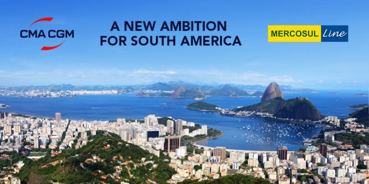 CMA CGM GROUP completes the acquisition of MERCOSUL Line and strengthens its service offering in South America