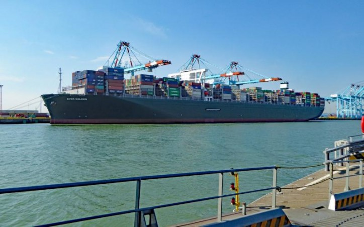 Containership Ever Golden deployed for the NEU3 service makes first call at CSP Zeebrugge Terminal