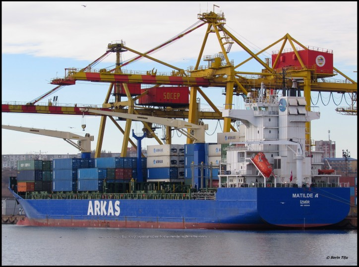 Two Turkish cargo vessels collided off Constanta (Romania)