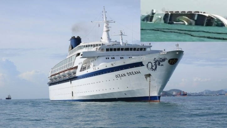 Chinese Cruise Ship Abandoned For A Year Capsizes And Sinks Off - Cruise ship in thailand