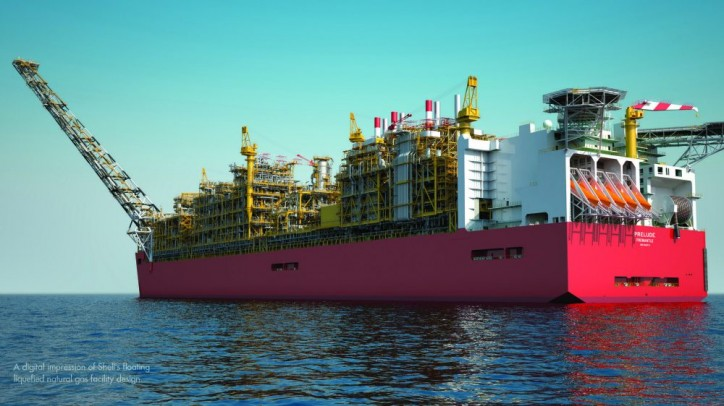 Fire at World's Largest Ever Ship's Construction - Shell Prelude FLNG