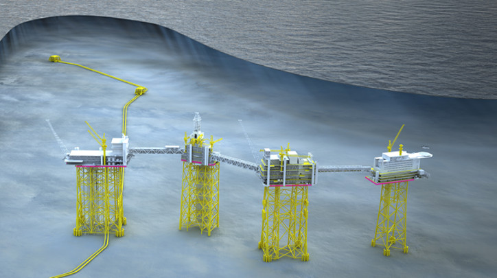 The first stage of Johan Sverdrup project will involve the establishment of a field hub consisting of four platforms